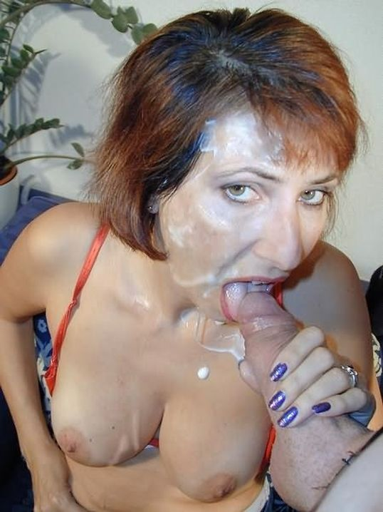 Немецкая дама в сперме